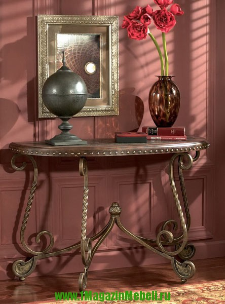 Консольный столик в прихожую из дерева, 382-4  (арт. М1121)