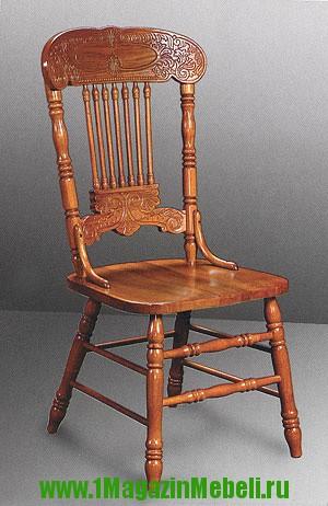 Деревянные кухонные стулья с жесткой сидушкой 838S (арт. М3041)