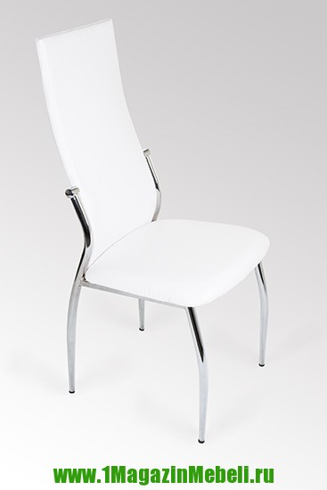 Белые стулья для кухни, металлические, хром JD2368 (арт. М3083)