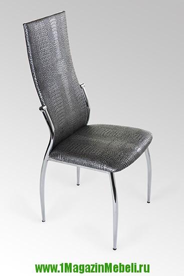 Хромированные стулья 2368 серебристый крокодил (арт. М3163)