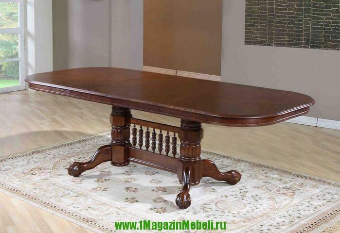 Стол овальный раздвижной для кухни, деревянный, 4296 STC (арт. М4049)