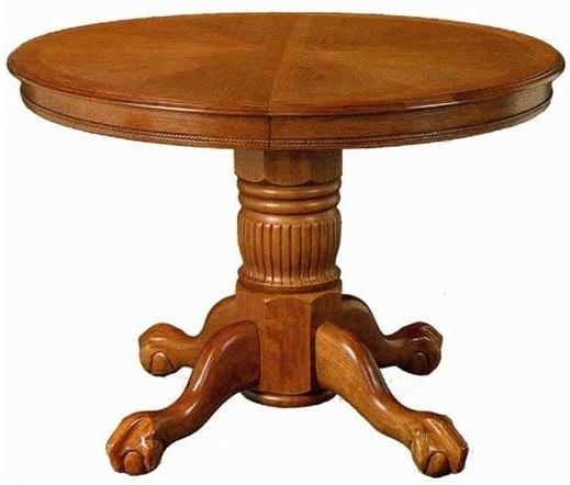 Круглый стол для кухни, раскладной, деревянный 4260 STC (арт. М4051)