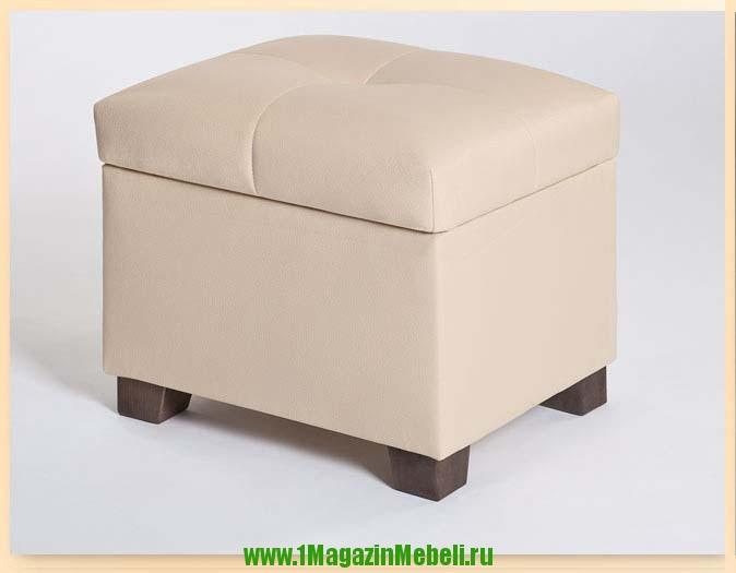 Пуфики банкетки 501236 для спальни с ящиком, цвет бежевый (арт. М2050)